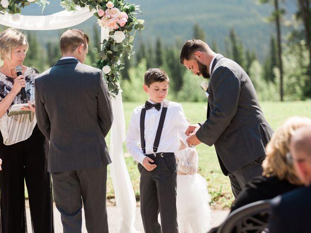 Clay and Cassie's wedding in Kananaskis, Alberta 32