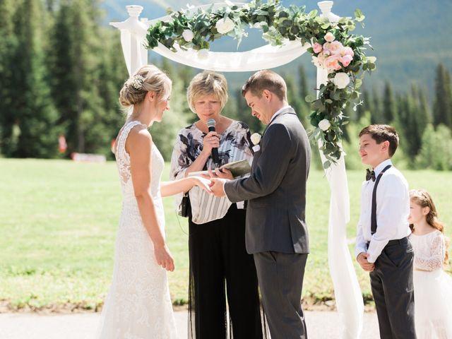 Clay and Cassie's wedding in Kananaskis, Alberta 33