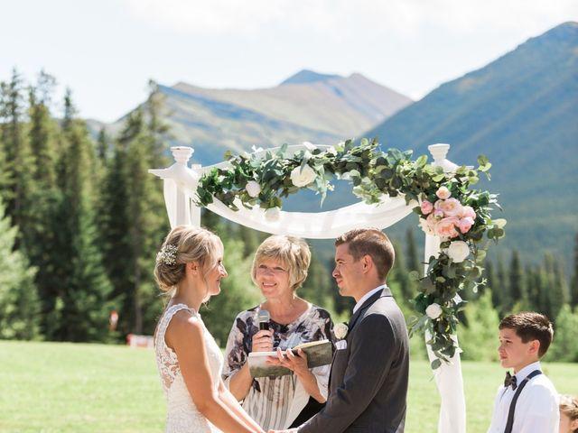 Clay and Cassie's wedding in Kananaskis, Alberta 35