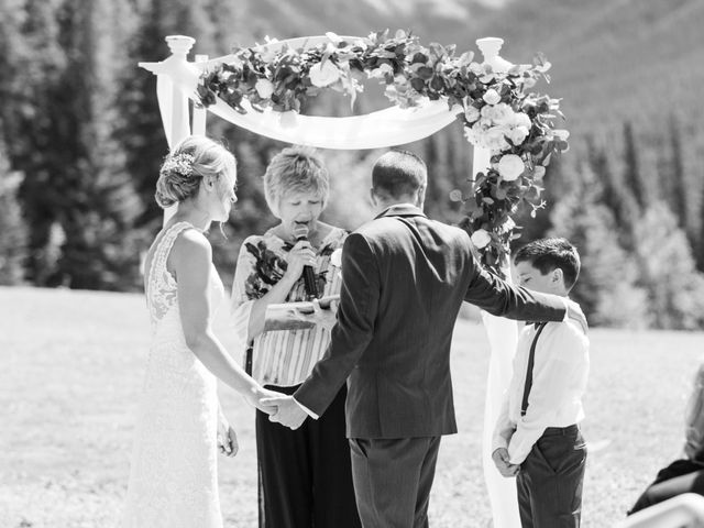 Clay and Cassie's wedding in Kananaskis, Alberta 37