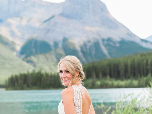 Clay and Cassie's wedding in Kananaskis, Alberta 55