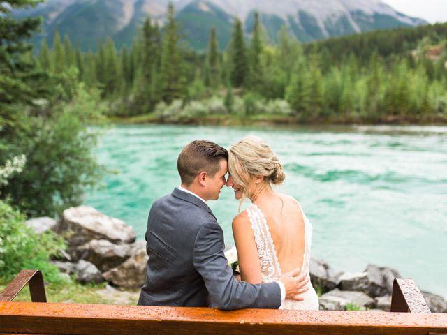 Clay and Cassie's wedding in Kananaskis, Alberta 1