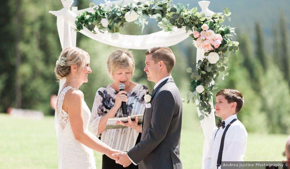 Clay and Cassie's wedding in Kananaskis, Alberta