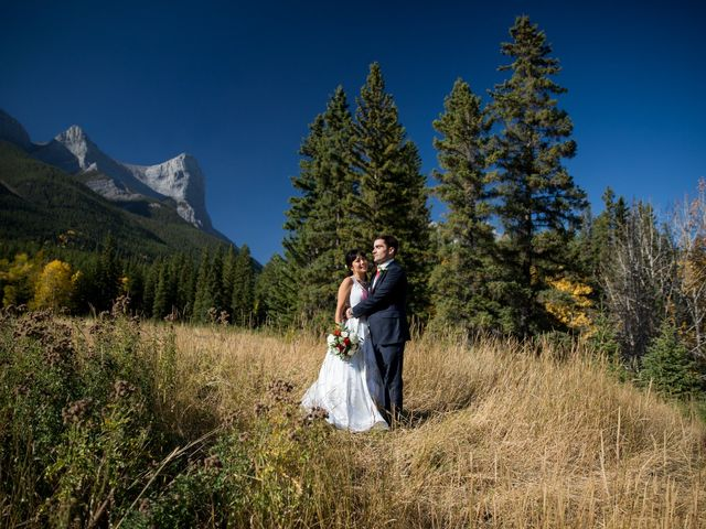 Chris and Jess's wedding in Canmore, Alberta 14