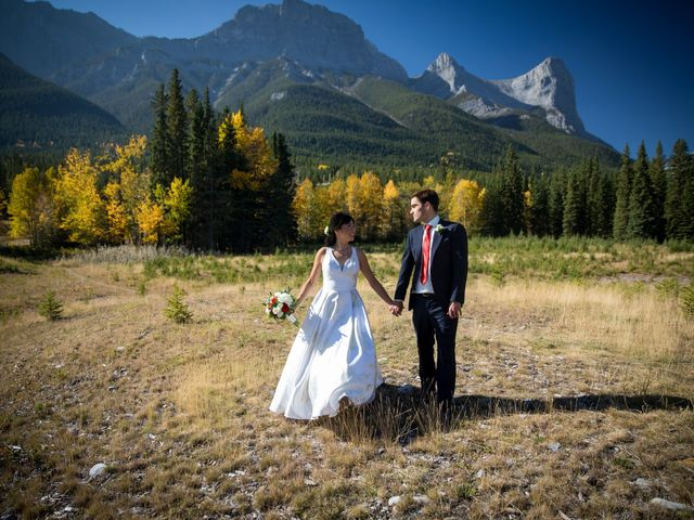 Chris and Jess's wedding in Canmore, Alberta 15