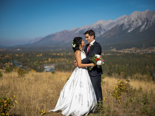 Chris and Jess's wedding in Canmore, Alberta 16