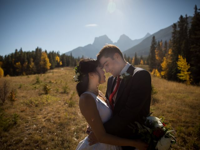 Chris and Jess's wedding in Canmore, Alberta 17