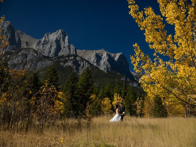Chris and Jess's wedding in Canmore, Alberta 20