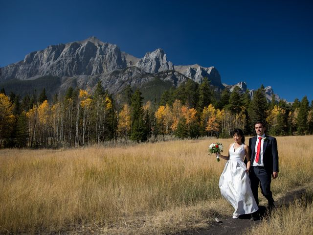 Chris and Jess's wedding in Canmore, Alberta 22