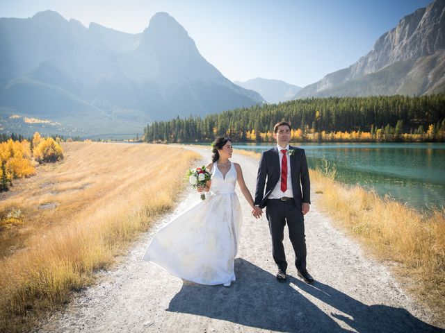 Chris and Jess's wedding in Canmore, Alberta 23