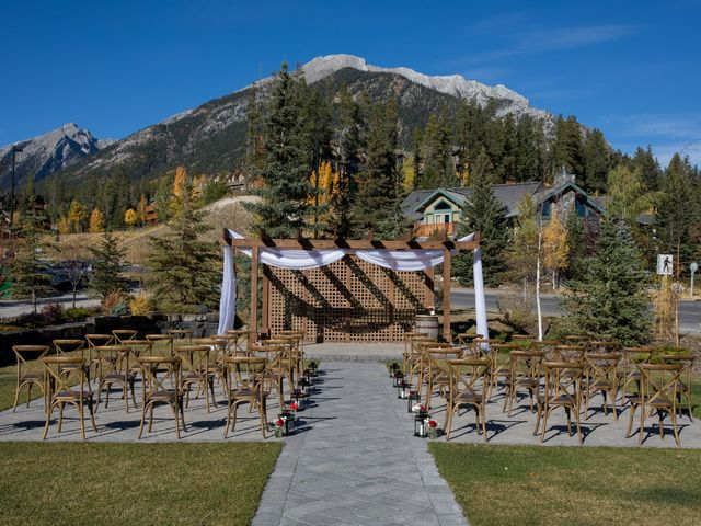 Chris and Jess's wedding in Canmore, Alberta 24