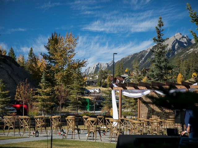 Chris and Jess's wedding in Canmore, Alberta 27