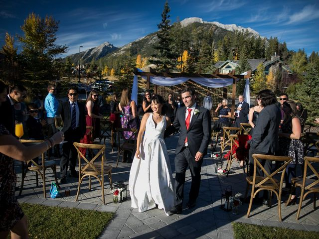 Chris and Jess's wedding in Canmore, Alberta 29