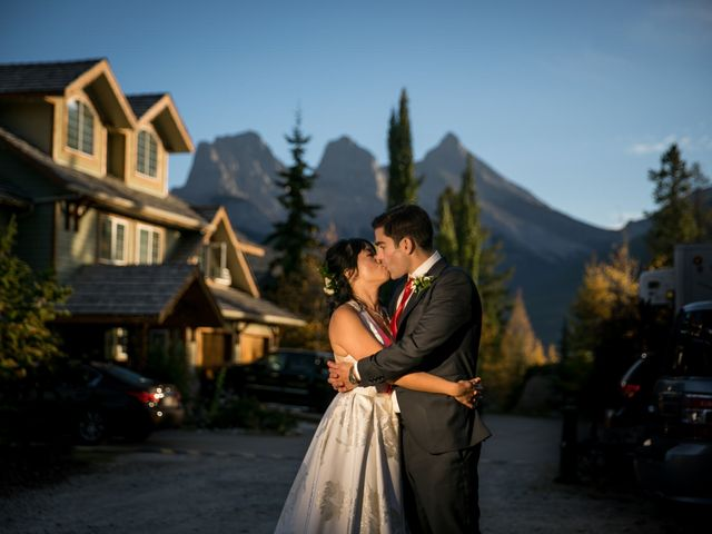 Chris and Jess's wedding in Canmore, Alberta 35