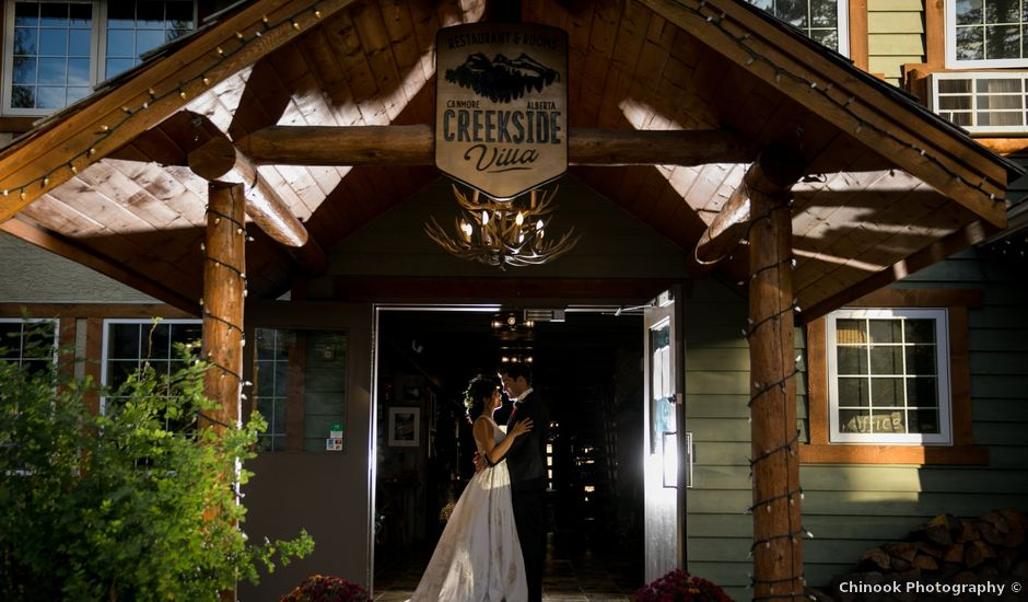 Chris and Jess's wedding in Canmore, Alberta