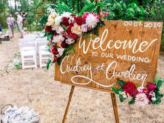 The wedding of Audrey and Aureline