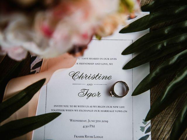 Christine and Igor's wedding in Agassiz, British Columbia 1