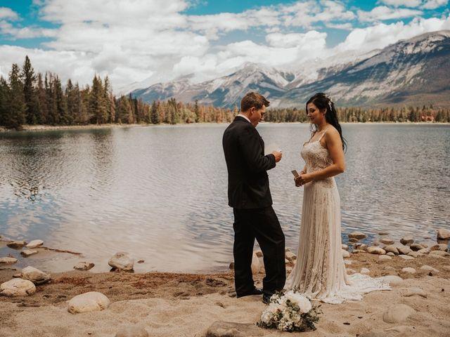 Curtis and Rain's wedding in Jasper, Alberta 1