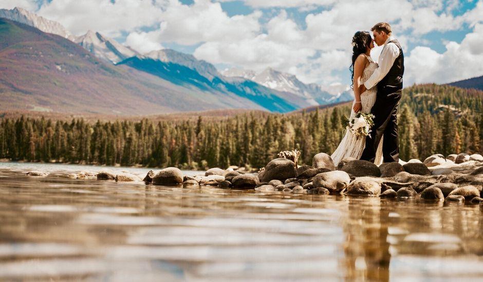 Curtis and Rain's wedding in Jasper, Alberta