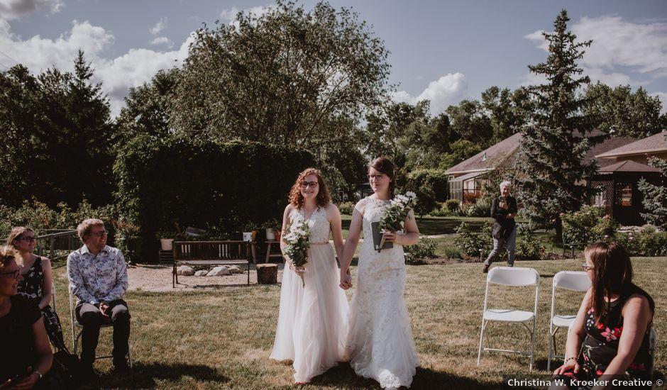 Zooey and Melanie's wedding in Winnipeg, Manitoba