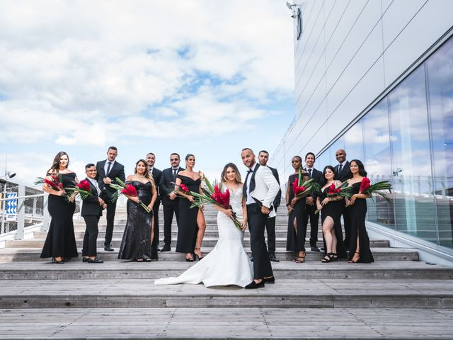 Salim and Alesia's wedding in La Prairie, Quebec 17