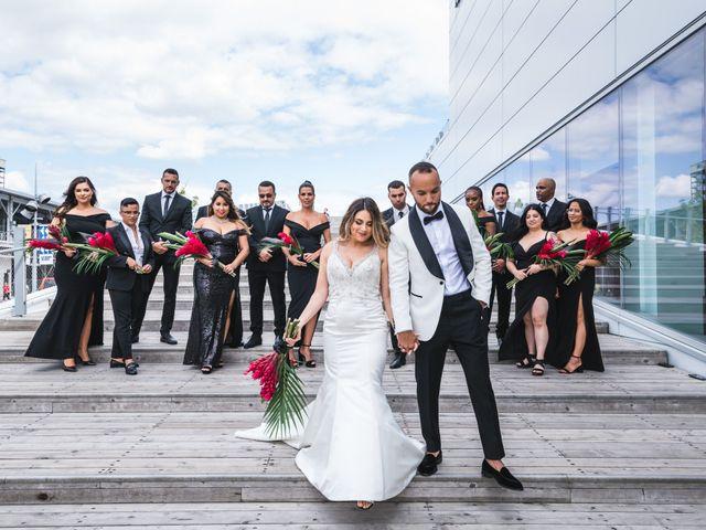 Salim and Alesia's wedding in La Prairie, Quebec 1