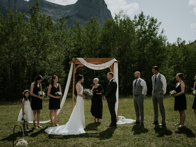 Chris and Kathy's wedding in Canmore, Alberta 13