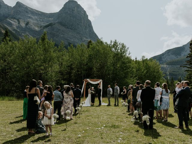Chris and Kathy's wedding in Canmore, Alberta 14