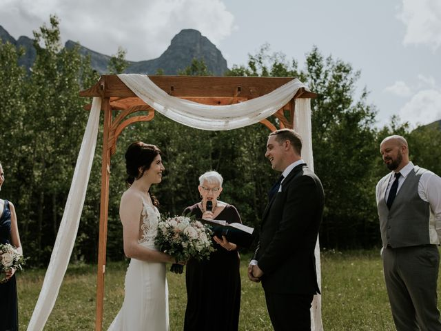 Chris and Kathy's wedding in Canmore, Alberta 15