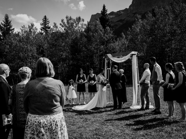 Chris and Kathy's wedding in Canmore, Alberta 16