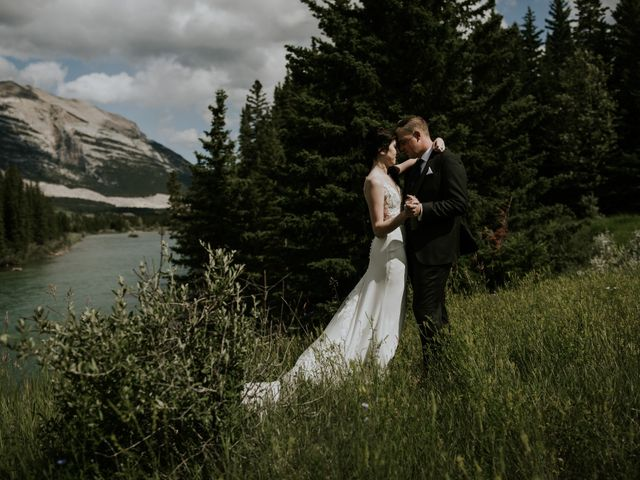 Chris and Kathy's wedding in Canmore, Alberta 20