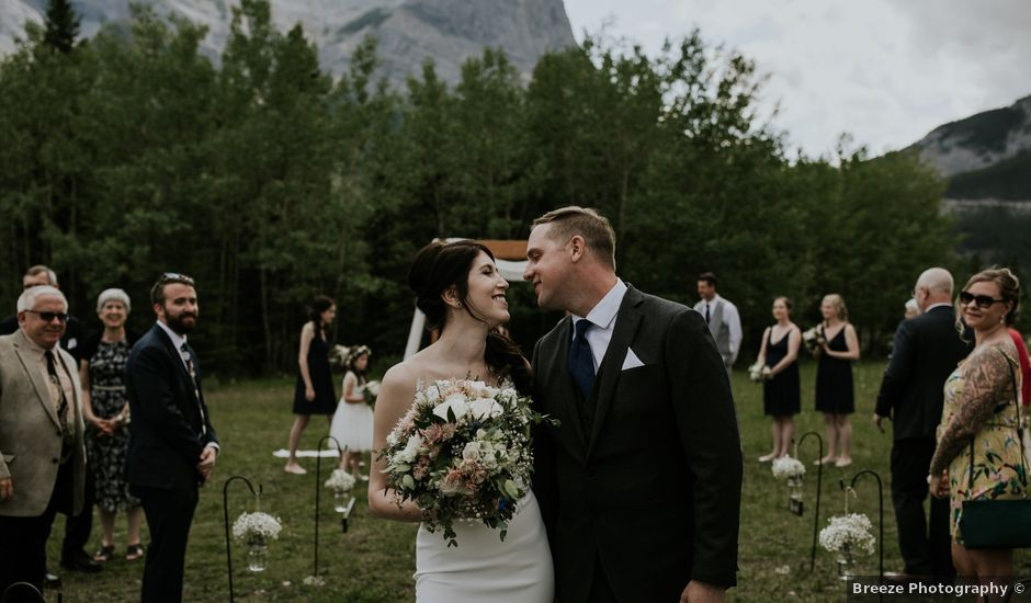 Chris and Kathy's wedding in Canmore, Alberta