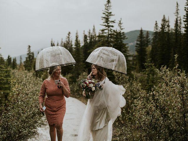 Fraser and Taylor's wedding in Kananaskis, Alberta 13