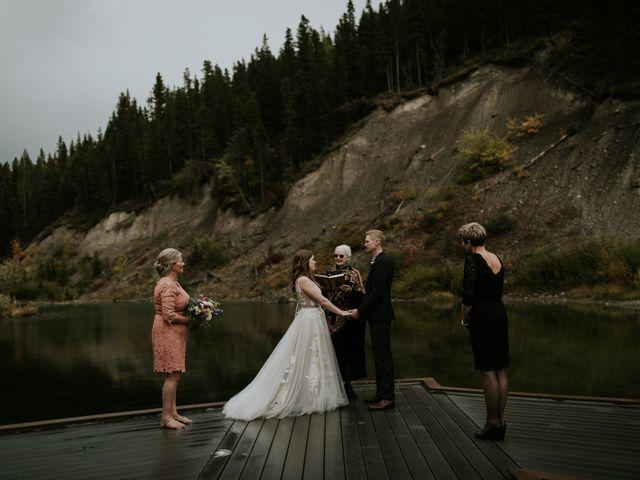 Fraser and Taylor's wedding in Kananaskis, Alberta 19