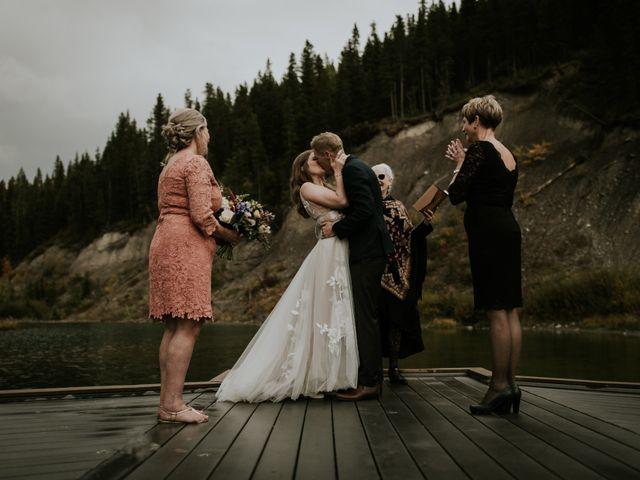 Fraser and Taylor's wedding in Kananaskis, Alberta 1