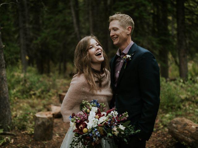 Fraser and Taylor's wedding in Kananaskis, Alberta 30
