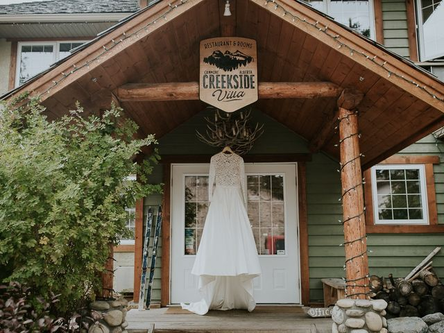 Brad and Anna's wedding in Canmore, Alberta 3