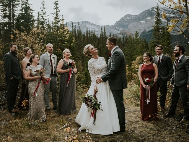 Brad and Anna's wedding in Canmore, Alberta 7