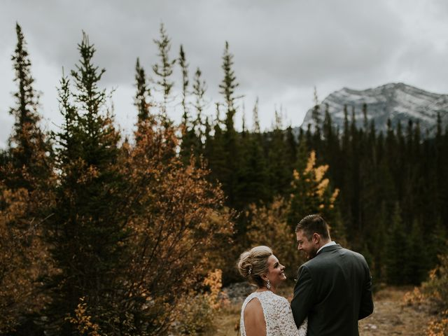 Brad and Anna's wedding in Canmore, Alberta 8