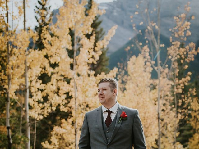 Brad and Anna's wedding in Canmore, Alberta 11