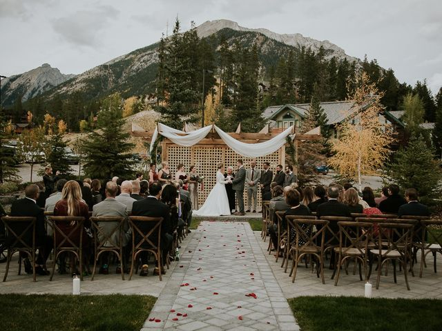 Brad and Anna's wedding in Canmore, Alberta 13