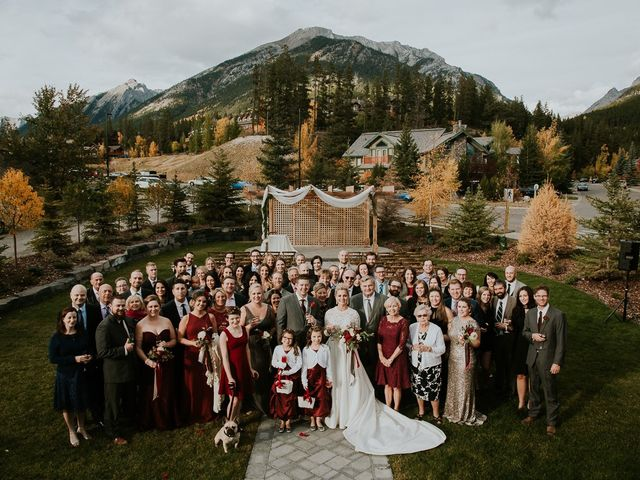 Brad and Anna's wedding in Canmore, Alberta 15