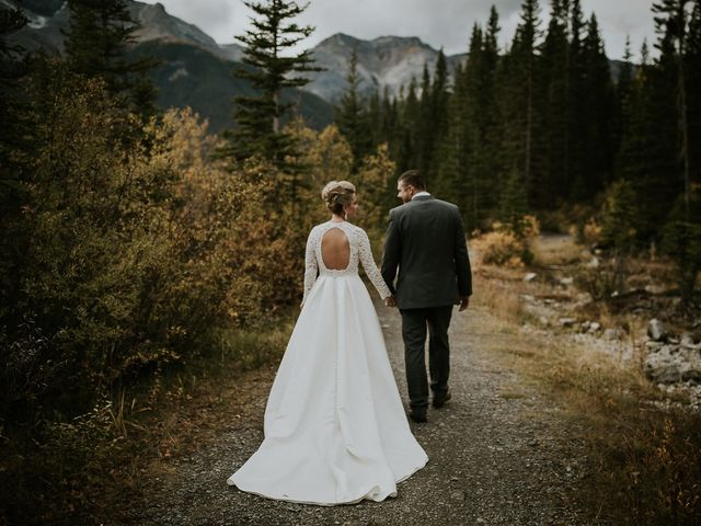 Brad and Anna's wedding in Canmore, Alberta 1