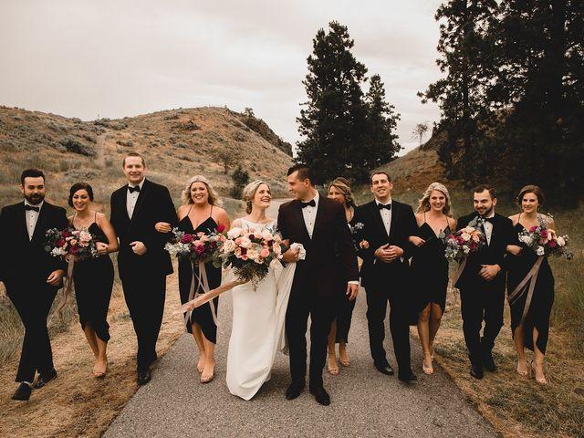Alex and Charisse's wedding in Penticton, British Columbia 1