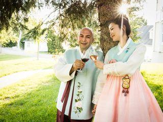 The wedding of Minji and Navid