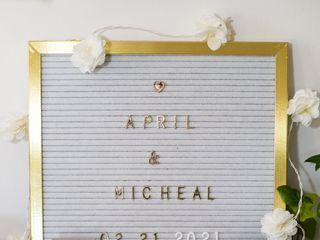 The wedding of April and Michael 2