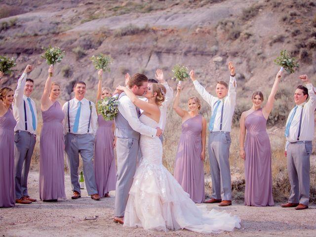 Ryan and Chrissy's wedding in Drumheller, Alberta 1