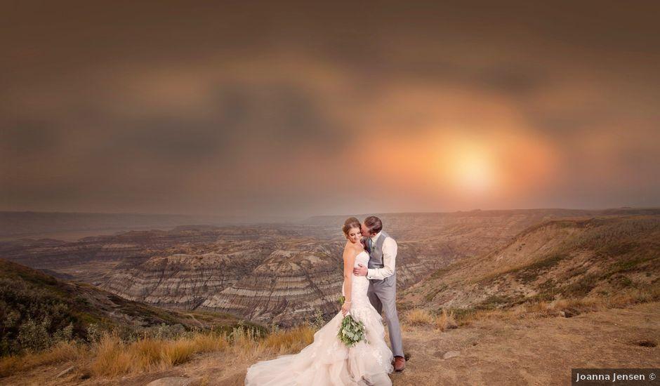 Ryan and Chrissy's wedding in Drumheller, Alberta
