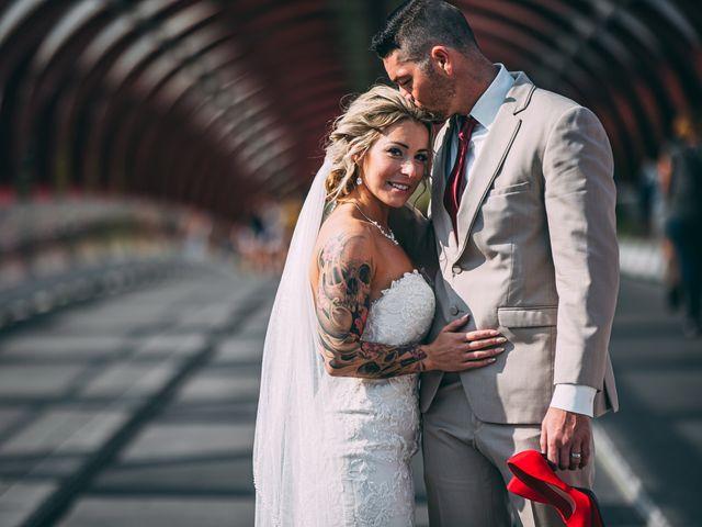 The wedding of Chrissy and Shamus