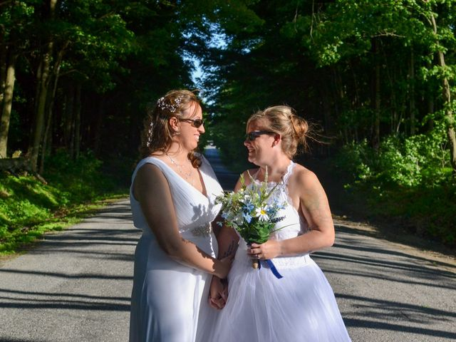 The wedding of April and Brittany